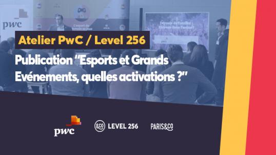PwC et Level 256 dévoile la publication « Esports et Grands Evénements, quelles activations ? »
