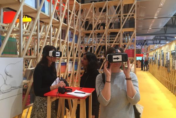 réalité virtuelle foire du livre de francfort labo de l'édition